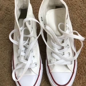Converse Shoes - All-white Hightop converse